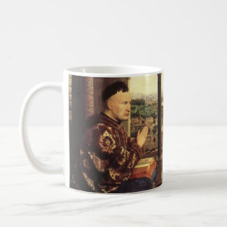 The Virgin of Chancellor Rolin by Jan van Eyck Basic White Mug