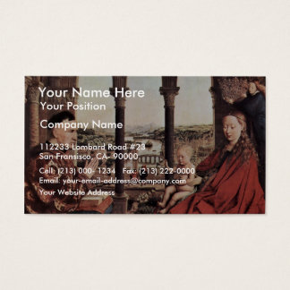 The Virgin Of Chancellor Rolin. By Jan Van Eyck  ( Business Card