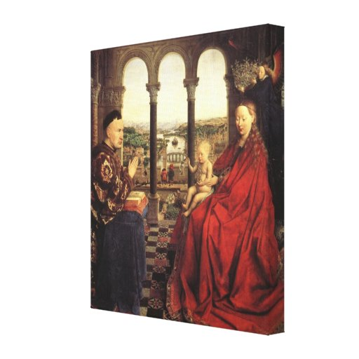 The Virgin of Chancellor Rolin by Jan van Eyck Canvas Print