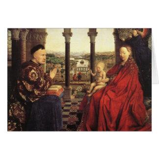 The Virgin of Chancellor Rolin by Jan van Eyck Card