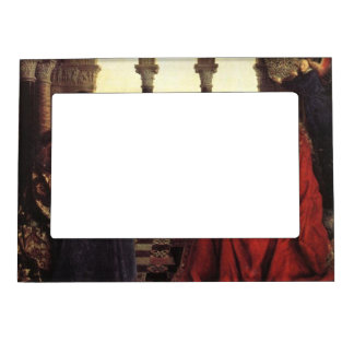 The Virgin of Chancellor Rolin by Jan van Eyck Frame Magnets