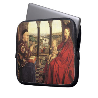 The Virgin of Chancellor Rolin by Jan van Eyck Laptop Computer Sleeve