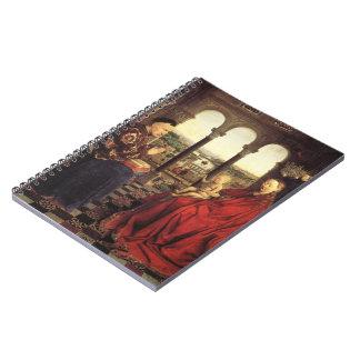 The Virgin of Chancellor Rolin by Jan van Eyck Spiral Notebooks
