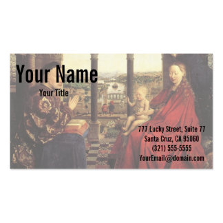 The Virgin of Chancellor Rolin by Jan van Eyck Pack Of Standard Business Cards