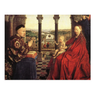The Virgin of Chancellor Rolin by Jan van Eyck Postcard