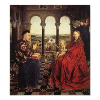 The Virgin of Chancellor Rolin by Jan van Eyck Poster