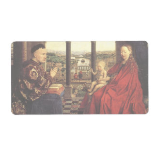 The Virgin of Chancellor Rolin by Jan van Eyck Shipping Label