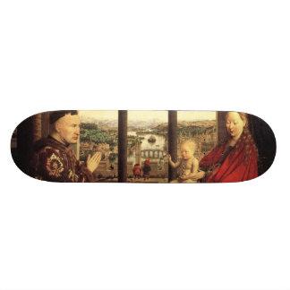 The Virgin of Chancellor Rolin by Jan van Eyck Skate Board Deck