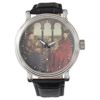 The Virgin of Chancellor Rolin by Jan van Eyck Wrist Watches