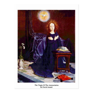 The Virgin Of The Annunciation By David Gerard Postcard