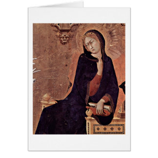 The Virgin Of The Annunciation By Simone Martini Card