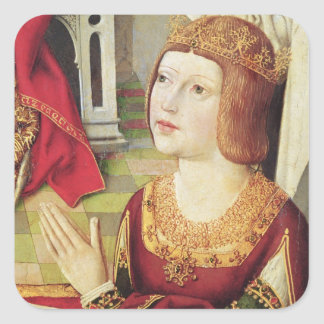 The Virgin of the Catholic Kings 2 Square Sticker