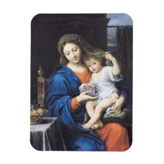 The Virgin of the Grapes, 1640-50 Rectangular Photo Magnet