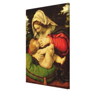 The Virgin of the Green Cushion, 1507-10 Canvas Print