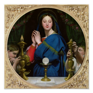 The Virgin of the Host, 1854 Poster