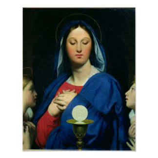 The Virgin of the Host, 1866 Poster