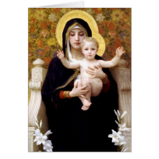 The Virgin of the Lilies - Christmas Card