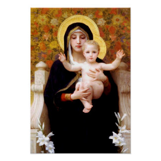 The Virgin of the Lilies (La Vierge au Lys) Poster