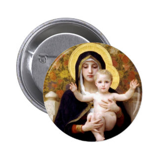 The Virgin of the Lillies 6 Cm Round Badge