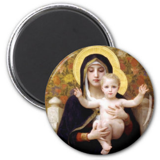 The Virgin of the Lillies 6 Cm Round Magnet