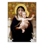 The Virgin of the Lillies Greeting Card