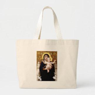 The Virgin of the Lillies Jumbo Tote Bag