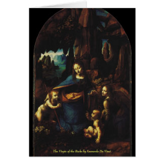The Virgin of the Rocks by Leonardo da Vinci Card