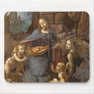 The Virgin of the Rocks Mouse Pad