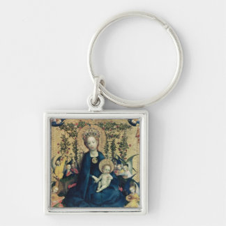 The Virgin of the Rose Bush Keychain
