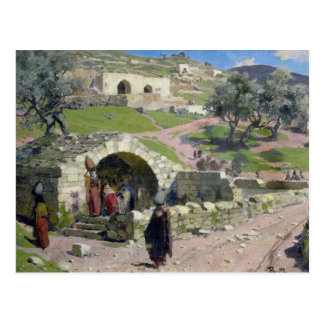 The Virgin Spring in Nazareth, 1882 Postcard