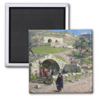 The Virgin Spring in Nazareth, 1882 Square Magnet