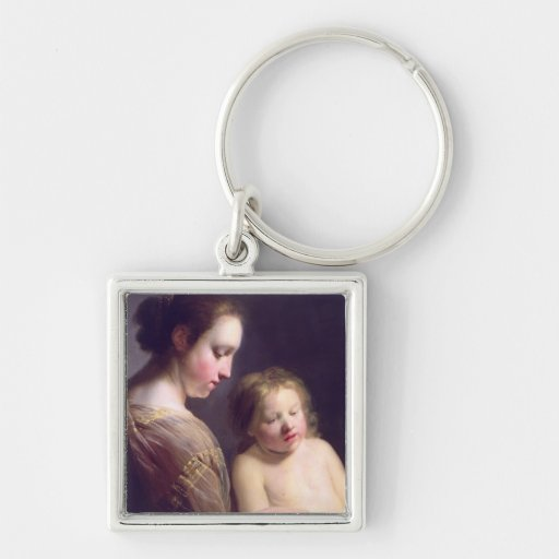 The Virgin Teaching the Infant Christ to Read Key Chain