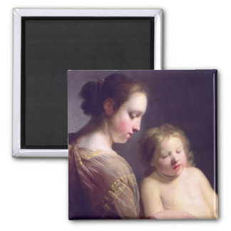 The Virgin Teaching the Infant Christ to Read Refrigerator Magnets