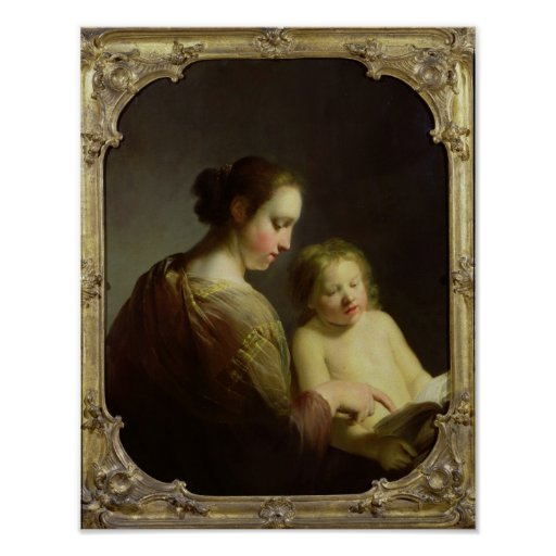 The Virgin Teaching the Infant Christ to Read Posters