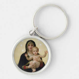 The Virgin with Angels, 1900 Silver-Colored Round Key Ring
