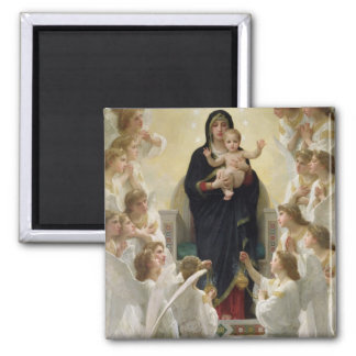 The Virgin with Angels, 1900 Square Magnet
