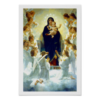 """The Virgin With Angels"" Fine Art Poster"
