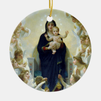 The Virgin With Angels, William Bouguereau Ceramic Ornament