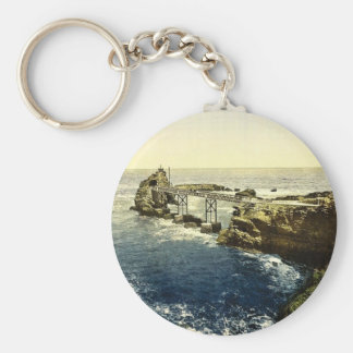 The Virgin's Rock, Biarritz, Pyrenees, France clas Key Chains
