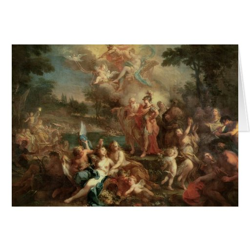 The Vision of Aeneas in the Elysian Fields Card