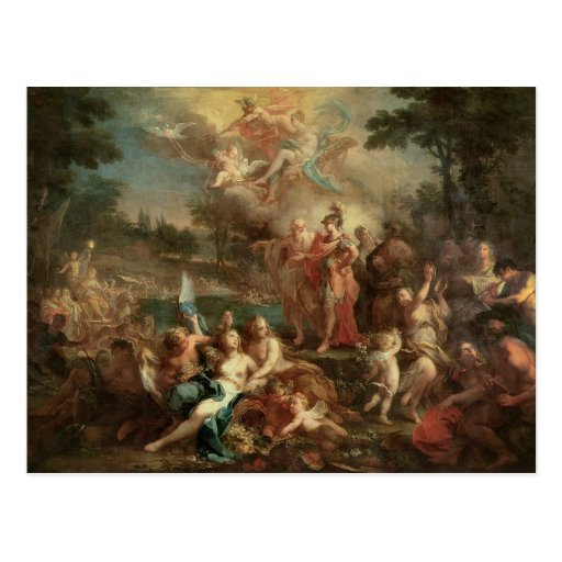The Vision of Aeneas in the Elysian Fields Post Cards