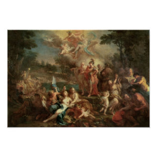 The Vision of Aeneas in the Elysian Fields Poster