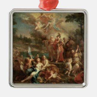 The Vision of Aeneas in the Elysian Fields Silver-Colored Square Decoration