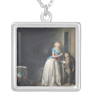 The Visit Received, 1789 Silver Plated Necklace