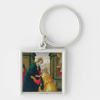 The Visitation, 1491 Silver-Colored Square Key Ring