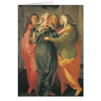 The Visitation - Jacopo Da Pontormo Card