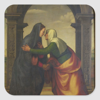 The Visitation of St. Elizabeth to the Virgin Mary Square Sticker