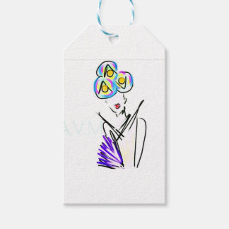 The Visitor Fashion Illustration Gift Tags