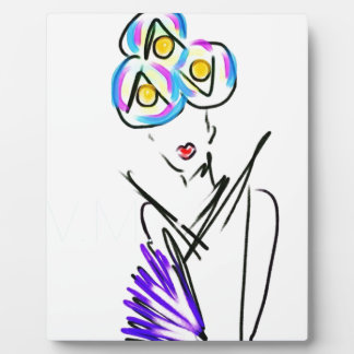 The Visitor Fashion Illustration Plaque