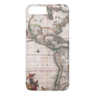 The Visscher map of the New World iPhone 8 Plus/7 Plus Case
